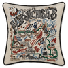 Hand-Embroidered Pillow - Massachusetts - Sugarboo and Co