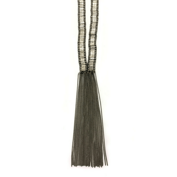 Metal Fringe Necklace - sugarboo and co