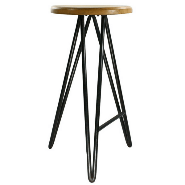 Harpoon Wood and Iron Stool - Bar Stool - Sugarboo and Co