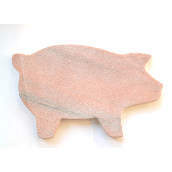Pink Marble Pig-Shaped Platter - Sugarboo and Co