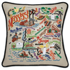 Hand-Embroidered Pillow - Mississippi - Sugarboo and Co