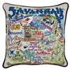 Hand-Embroidered Pillow - Savannah - Sugarboo and Co