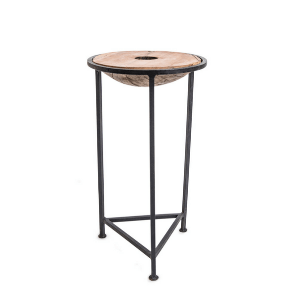 Small Wood and Iron Side Table - Sugarboo and Co