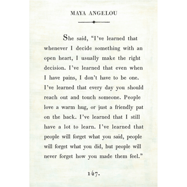 Maya Angelou Quote People Will For Get: Sugarboo & Co