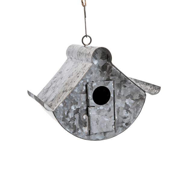 Galvanized Metal Birdhouse - Sugarboo and Co