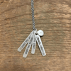 Sterling Silver Necklace - Travel Light - Sugarboo and Co