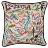 Hand-Embroidered Pillow - Louisiana - Sugarboo and Co
