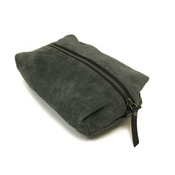 Grey Suede Dopp Kit - Sugarboo and Co