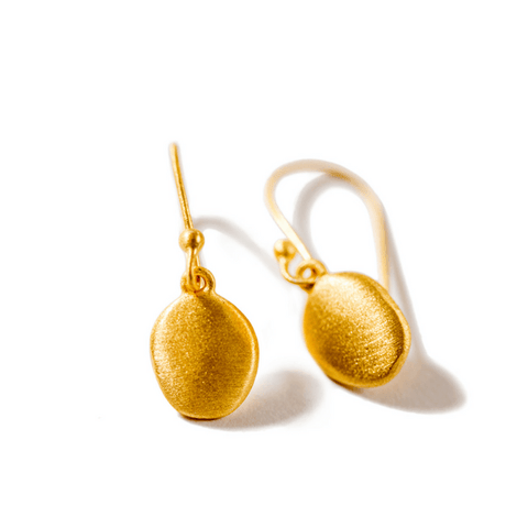 Gold Disc Earrings - Sugarboo and Co