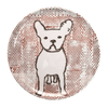 Sugarboo Art Print Melamine Plates - Frenchie with Dots - Sugarboo and Co