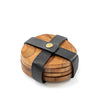 Natural Wood Coaster Set