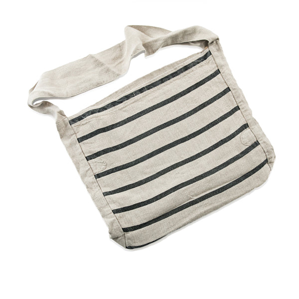 Stripe Canvas Messenger Bag