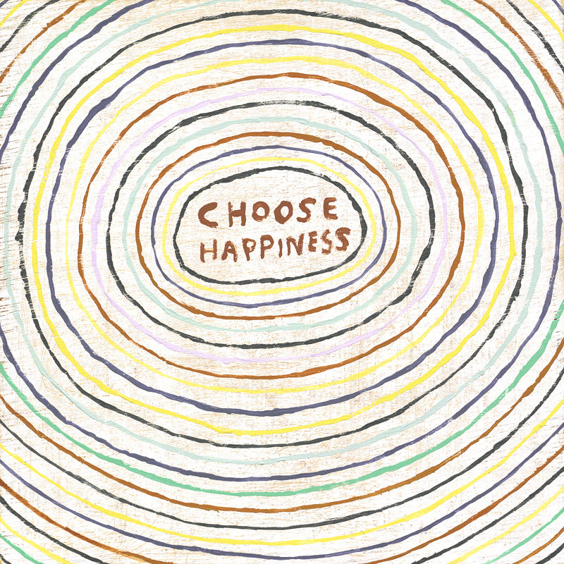 choose happiness gallery wrap art print