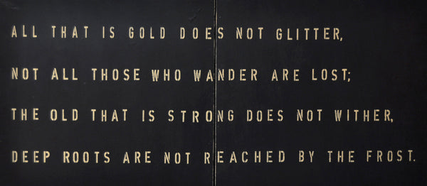 All that is gold does not glitter - Tolkien Wall Art by Sugarboo & Co.