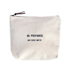 Canvas Zip Bag - Sugarboo Designs - Be prepared. Boy Scout motto
