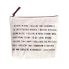 Canvas Zip Bag - Sugarboo Designs - I believe in pink Audrey Hepburn quote