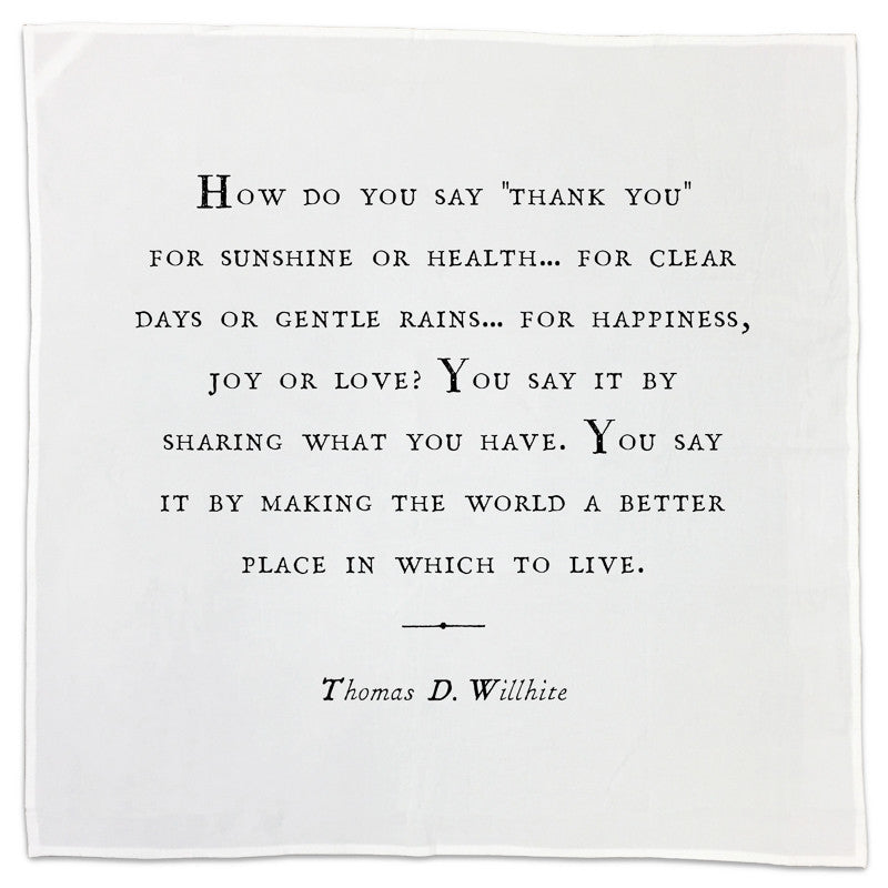 Gratitude Cotton Napkins - Sugarboo and Co