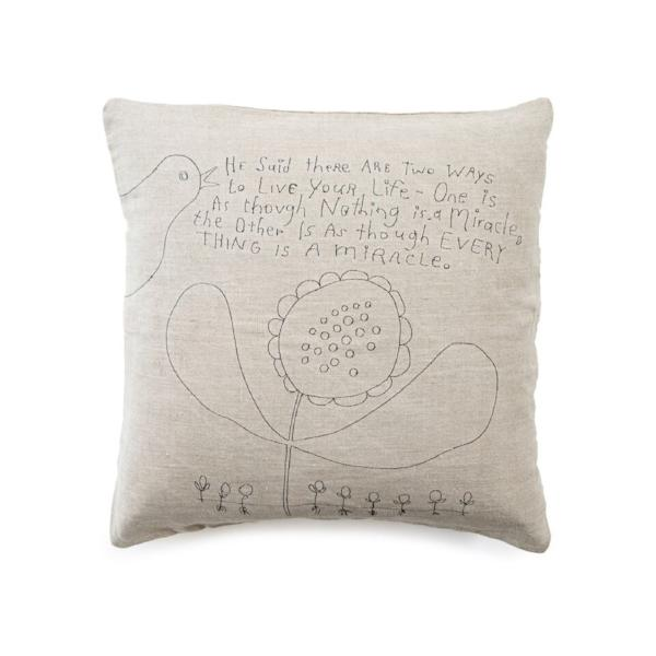 Two Ways to Live embroidered stonewashed pillow by Sugarboo & Co.