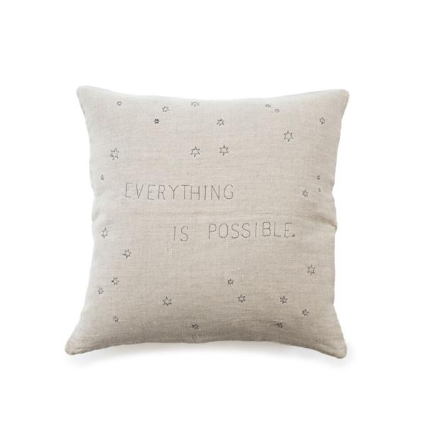 Everything is Possible embroidered pillow by Sugarboo & Co.