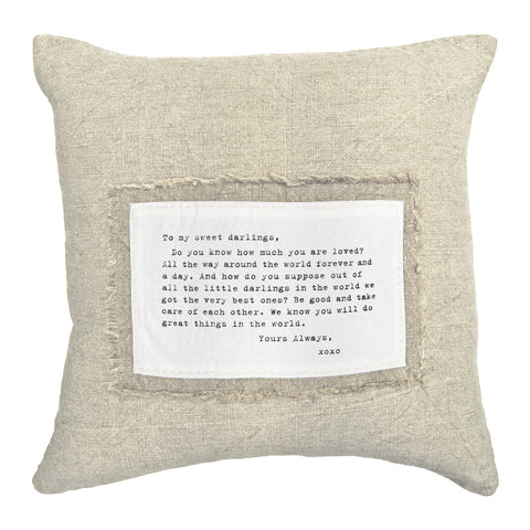 To My Sweet Darlings - Patch Pillow