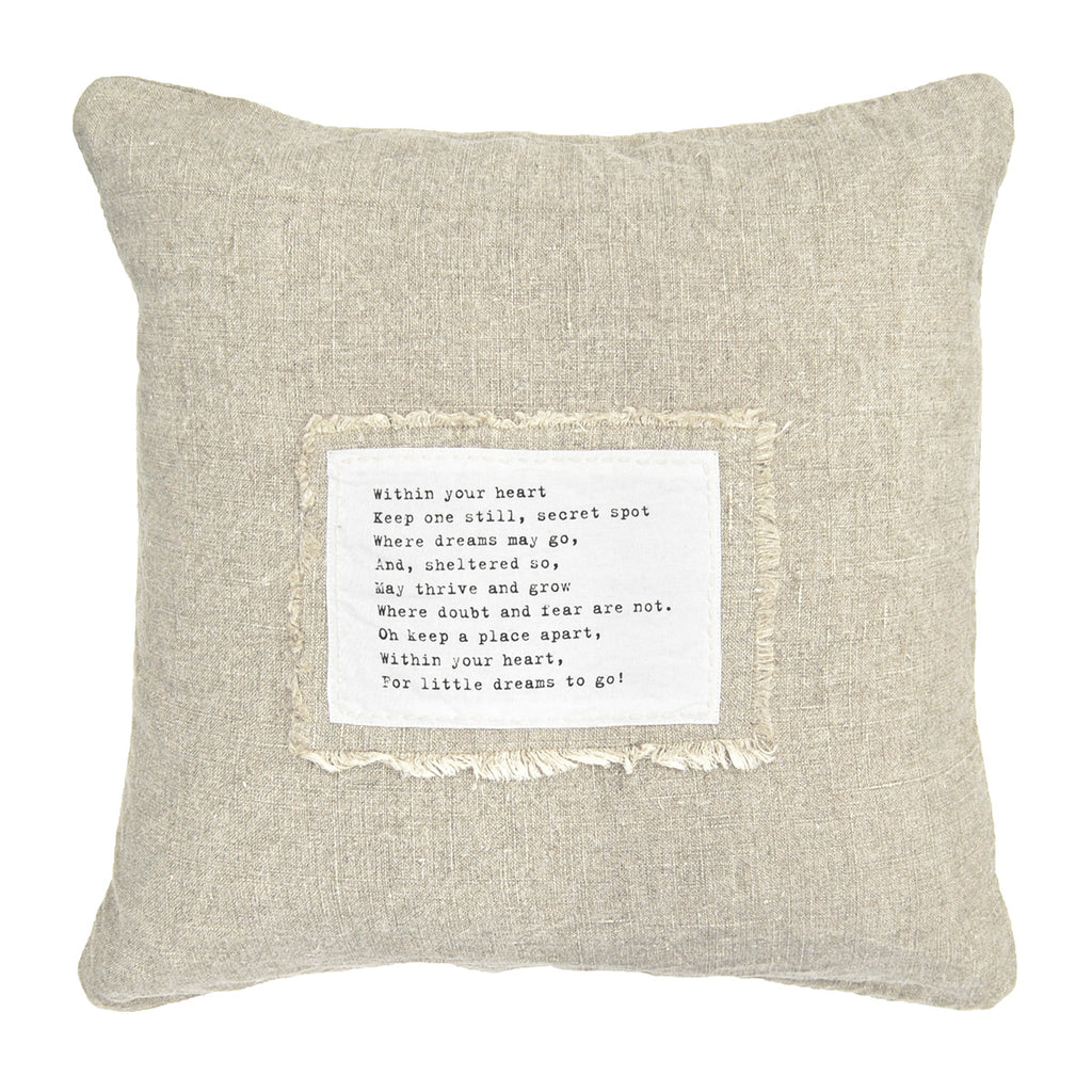 Within Your Heart - Patch Pillow