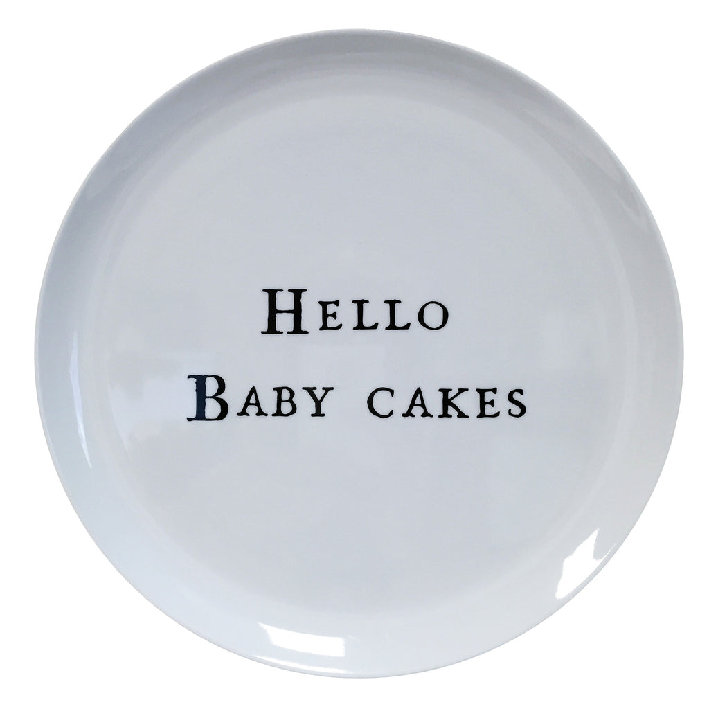 Hello Series Melamine Plates - Hello Baby Cakes - Sugarboo and Co  sc 1 st  Sugarboo Designs & Hello Series Melamine Plates \u2013 Sugarboo \u0026 Co