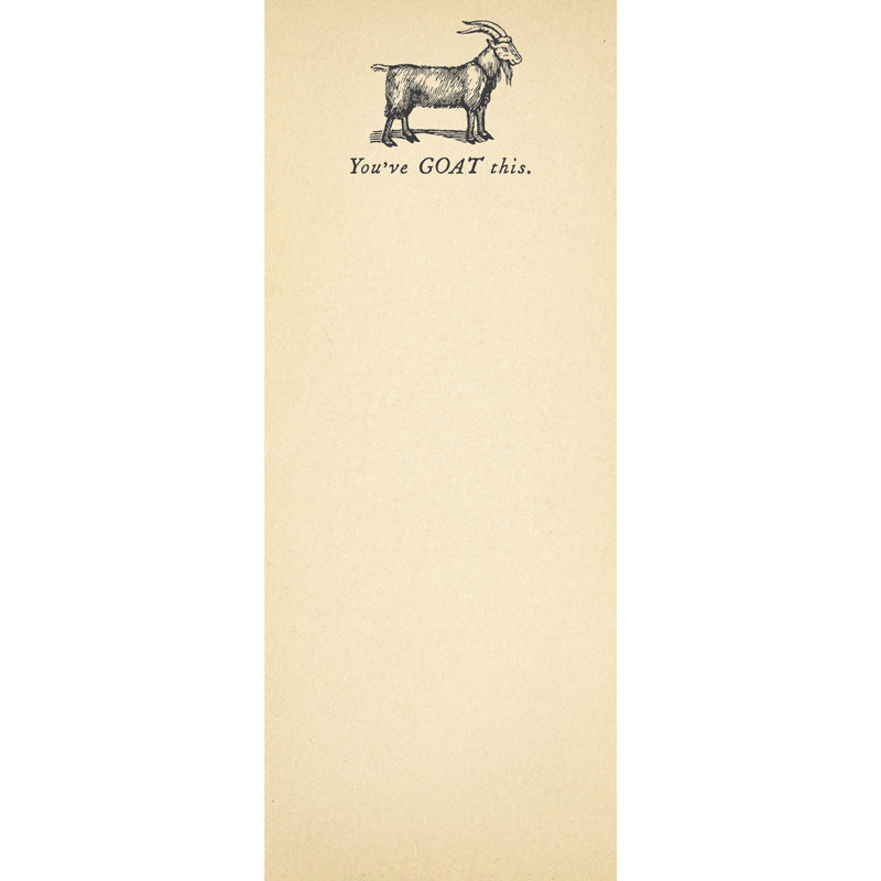 You've Goat This Skinny Notepad