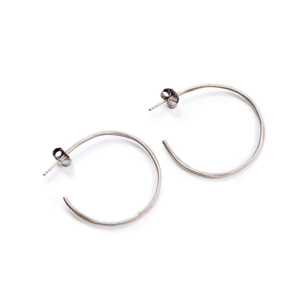 Hammered Sterling Silver Hoops (2 sizes)
