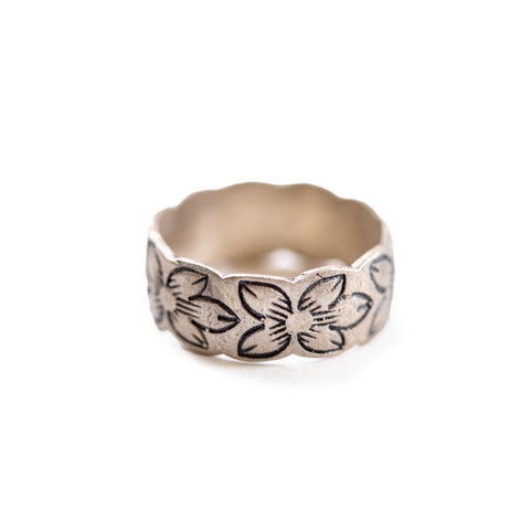 Foral Sterling Silver Ring