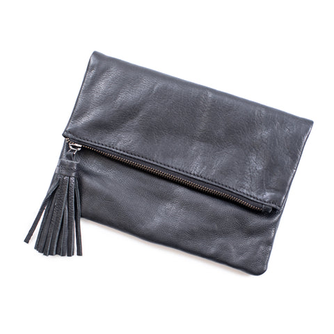 Lether Clutch with Tassel