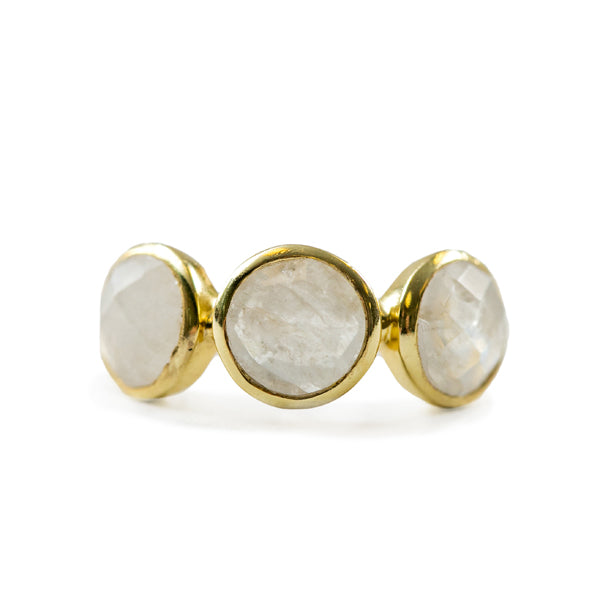 Rainbow Moonstone Ring (Three Sizes)