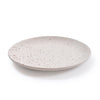 Small Ribbed Ceramic Speckled Plate