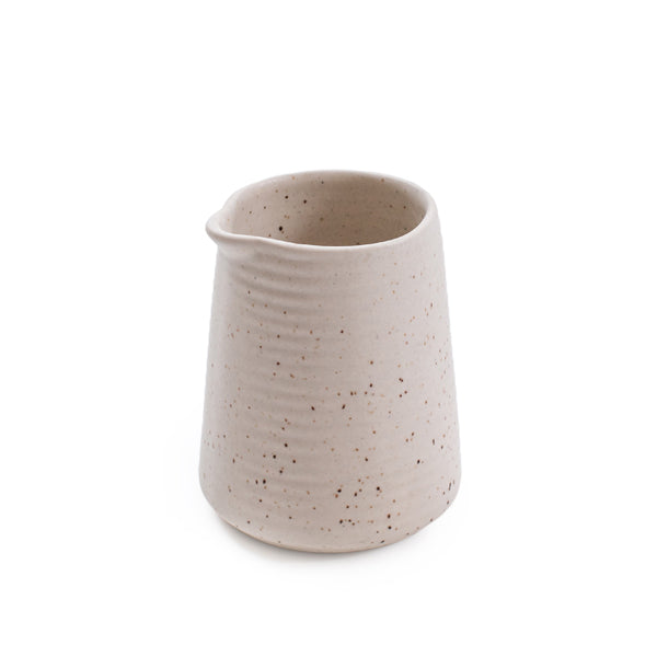 Ribbed Ceramic Speckled Pouring Jar