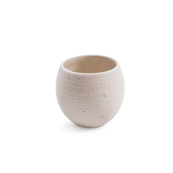 Ribbed Ceramic Speckled Pot
