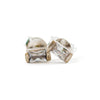 Crystal Stud Earrings  (Two Metal Types)