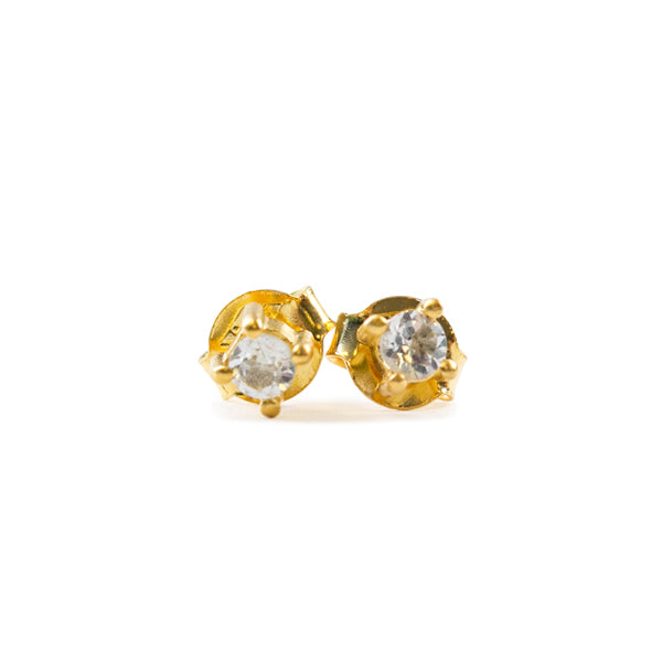 Small Gold and Crystal Earrings