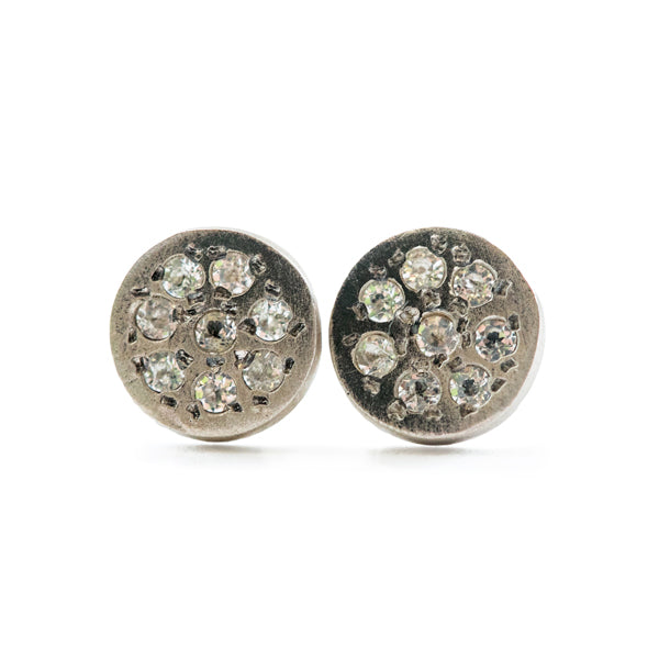 Circle Pave Pendant Earrings