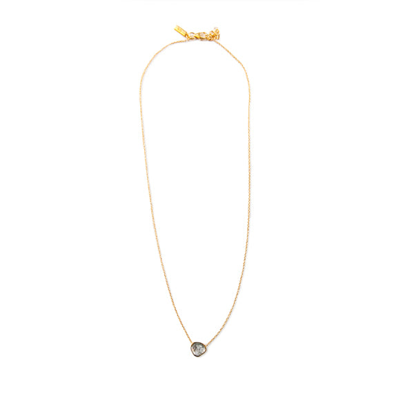 Diamond Slice Cut Gold Necklace