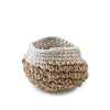 Knitted Basket with White Trim