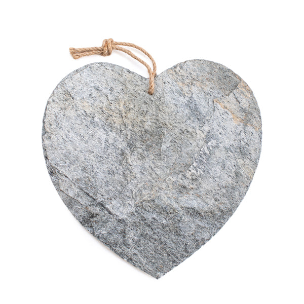 Silvershine Slate Heart Shaped Platter