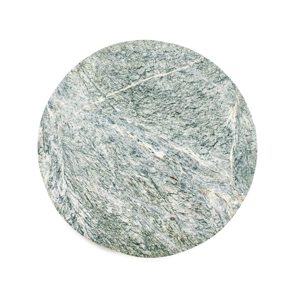Round Forest Green Marble Board