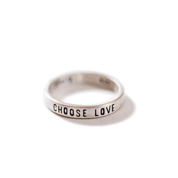Sterling Silver Ring - Choose Love (Four Sizes)