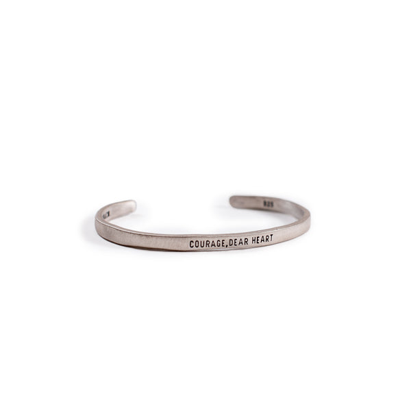 Sterling Silver Cuff - Courage, Dear Heart