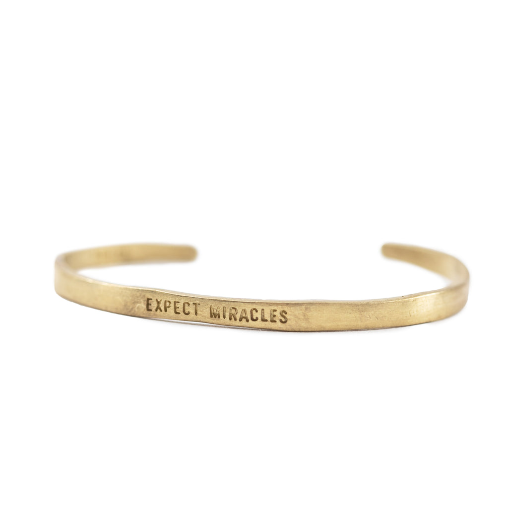 Expect Miracles Cuff - Brass