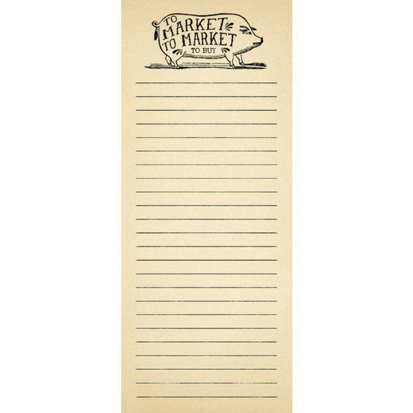 To Market - Skinny notepad - Sugarboo and Co