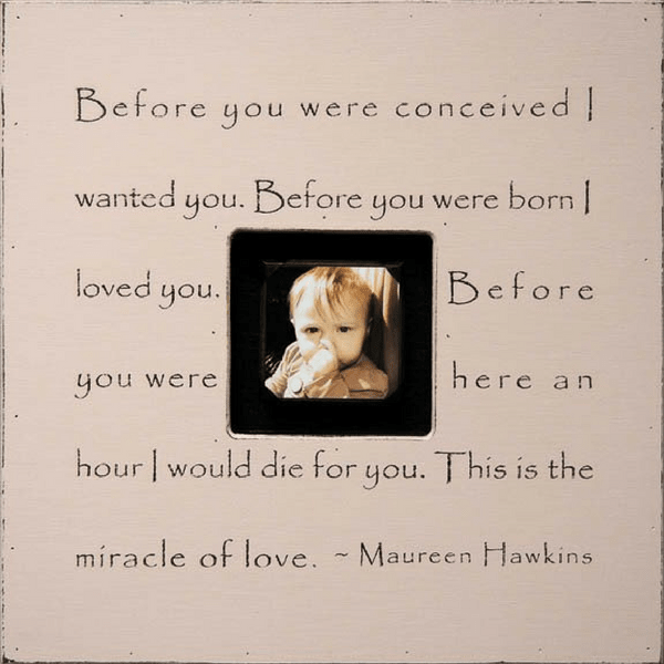 Before you were conceived photobox - Sugarboo and Co - Pink