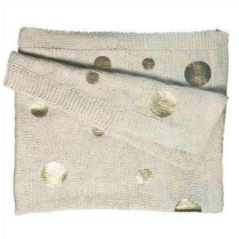 Cotton Throw - Gold Dot - Sugarboo and Co