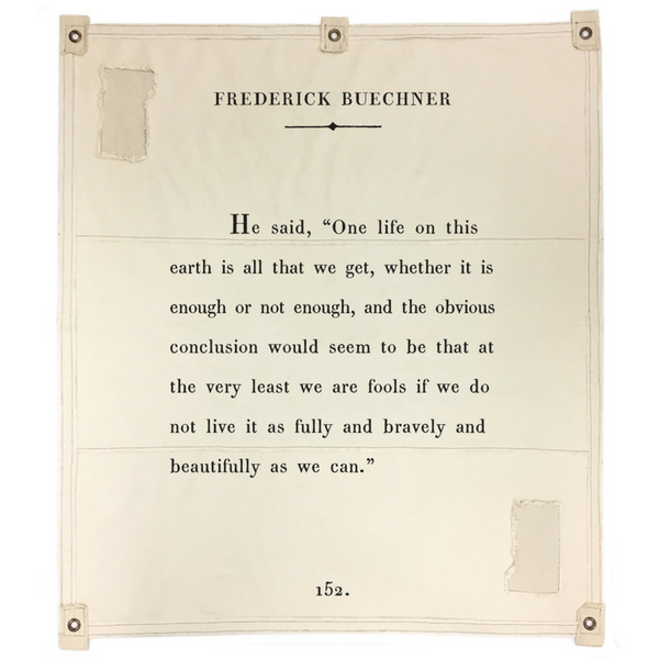 Frederick Buechner canvas wall tarp by Sugarboo & Co.
