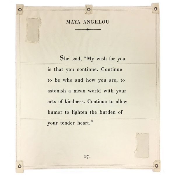 Sugarboo & Co. Maya Angelou canvas wall tarp
