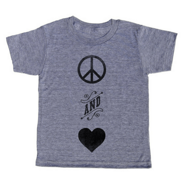 Peace and Love T-Shirt - Sugarboo and Co